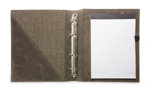A5 Ringbuch Vintage taupe